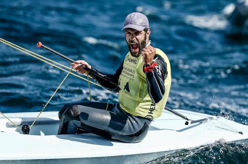 Laser gold for Pavlos Kontides (CYP) in the Hempel Sailing World Championships 2018 at Aarhus  - photo © Sailing Energy / World Sailing