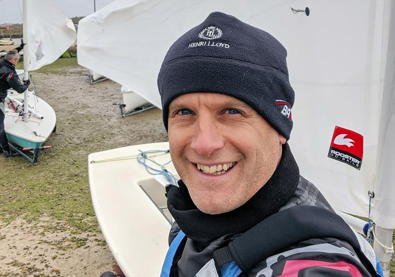 Mark Jardine all set for the first race of the season at Keyhaven Yacht Club in the UK - photo © Mark Jardine