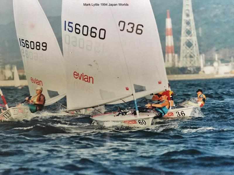 Mark Lyttle during the 1994 Laser Worlds in Japan - photo © UKLA Archive