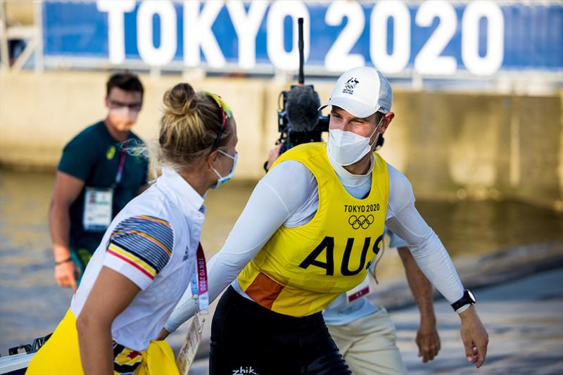 Matt Wearn assured of Laser Gold on day 6 of the Tokyo 2020 Olympic Sailing Competition - photo © Sailing Energy / World Sailing