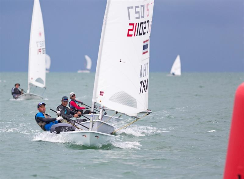 Follow my lead on the Single-Handed Monohull Dinghy course - photo © Guy Nowell