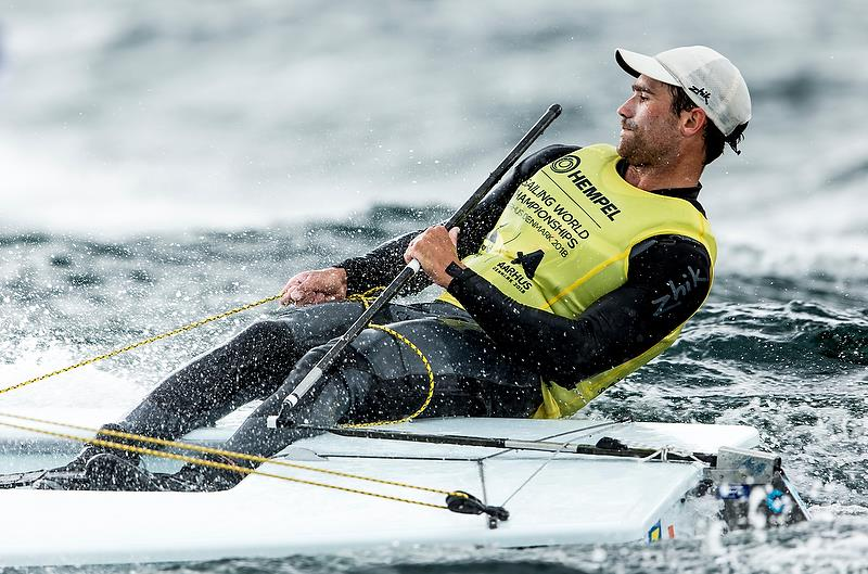 Sam Meech (NZL) - Laser - Day 4 - Hempel Sailing World Championships, Aarhus - August 2018 photo copyright Sailing Energy / World Sailing taken at  and featuring the Laser class