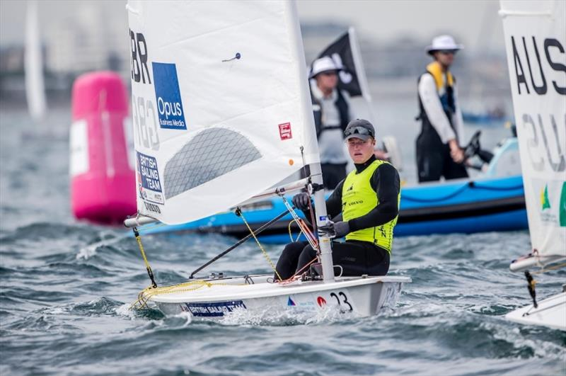 Elliot Hanson in the Laser on Day 3 at World Cup Series Enoshima - photo © Jesus Renedo / Sailing Energy / World Sailing