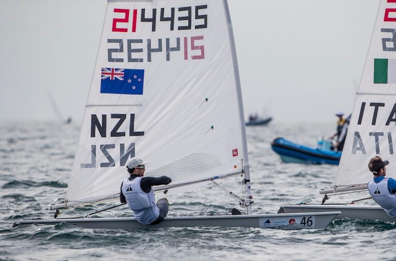 Sam Meech (NZL) in the Laser on Day 3 at World Cup Series Enoshima - photo © Jesus Renedo / Sailing Energy / World Sailing