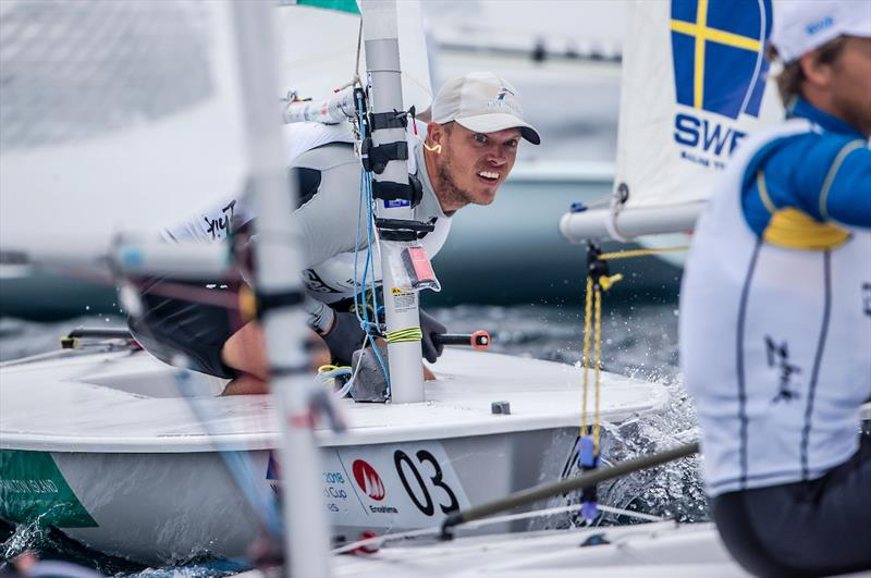 Tom Burton on Day 4 at World Cup Series Enoshima - photo © Sailing Energy / World Sailing
