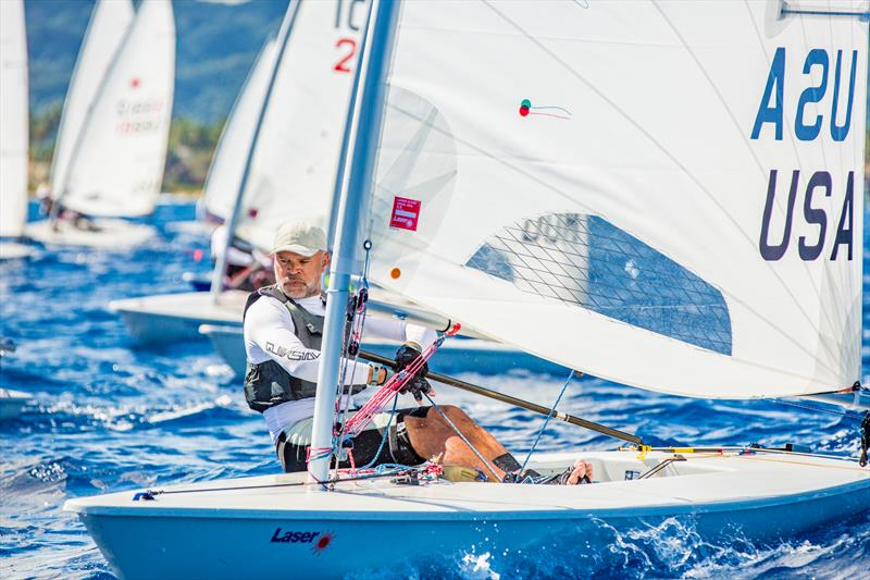 Mike Mattan enjoying Caribbean saline and sun at the 2017 Caribbean Laser Midwinter Regatta - photo © Image courtesy of Carib Wind Cabarete Laser training center