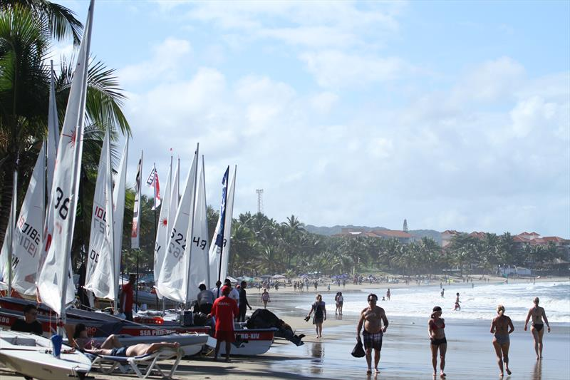 Sun, sand, wind and Lasers. Does life get any better? - photo © Image courtesy of Carib Wind Cabarete Laser training center