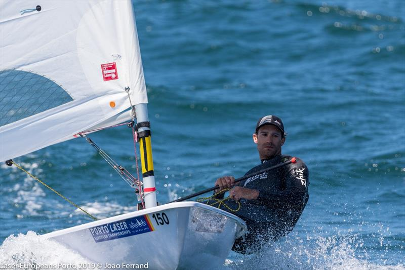 Sam Meech (NZL) wins the Silver Medal at the European Laser Championships, Porto, Portugal, May 2019 - photo © Joao Ferrand - Fotografia