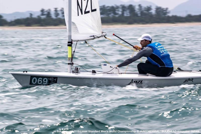 Sam Meech (NZL) lies in 4th position - Day 5, World Laser Championship, Sakaiminato, Japan July 2019 - photo © Junichi Hirai