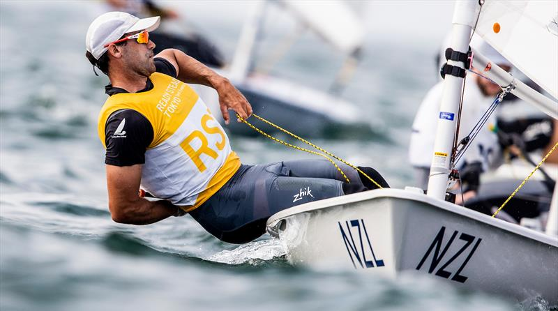 SamMeech (NZL) - Laser -  Day 3, Olympic Sailing Test Event - Enoshima - August 2019 - photo © Pedro Martinez / Sailing Energy / World Sailing