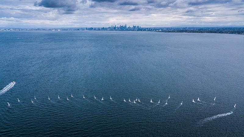 Laser fleet - Melbourne Summer of Sailing - photo © Beau Outteridge