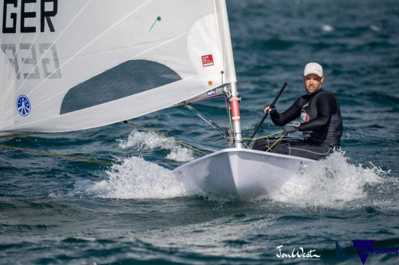 Philipp Buhl (GER) scored two bullets on day two of the ILCA Laser Standard World Championship in Melbourne photo copyright Jon West Photography taken at Sandringham Yacht Club and featuring the Laser class