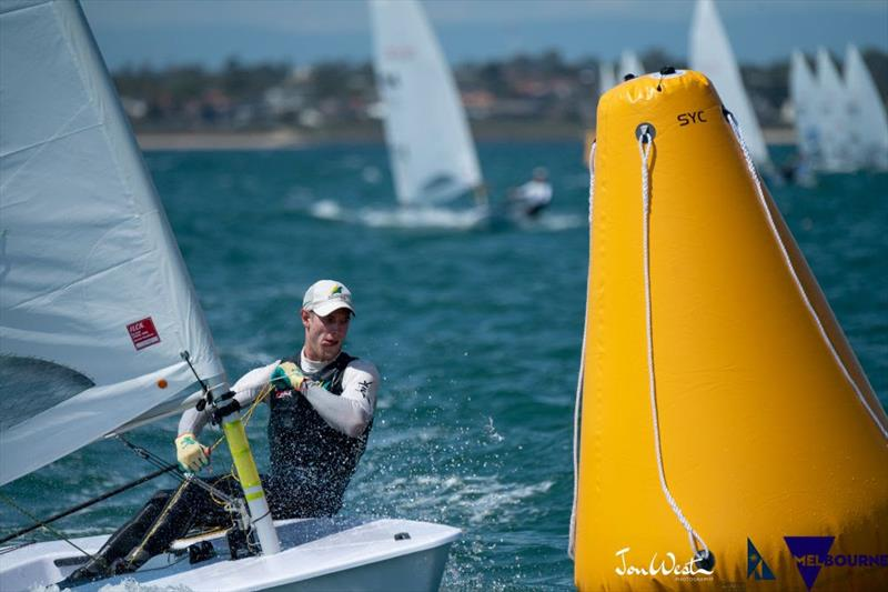 Australian Matt Wearn has kept himself in contention at the Laser Standard World Championship and is poised to strike in Gold Fleet. - photo © Jon West Photography