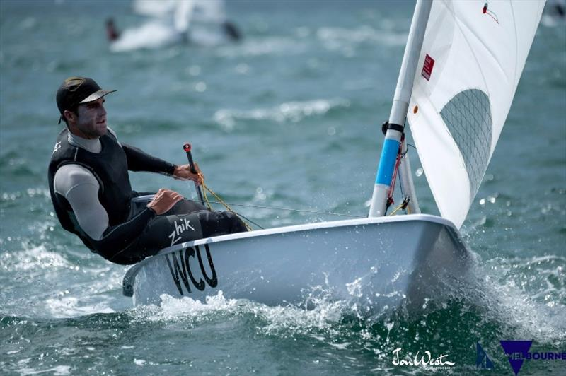 Charlie Buckingham at the 2020 ILCA Men's Laser Standard World Championships - photo © Jon West Photography