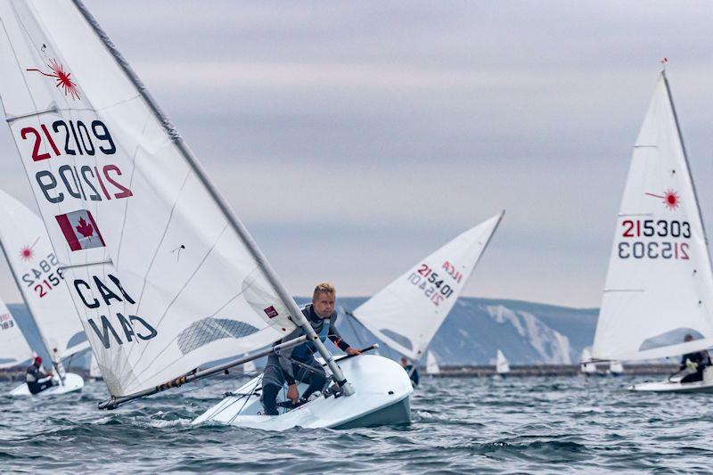 Ben Flower in the UKLA Noble Marine ILCA7 Autumn Qualifier photo copyright Georgie Altham taken at Weymouth & Portland Sailing Academy and featuring the Laser class