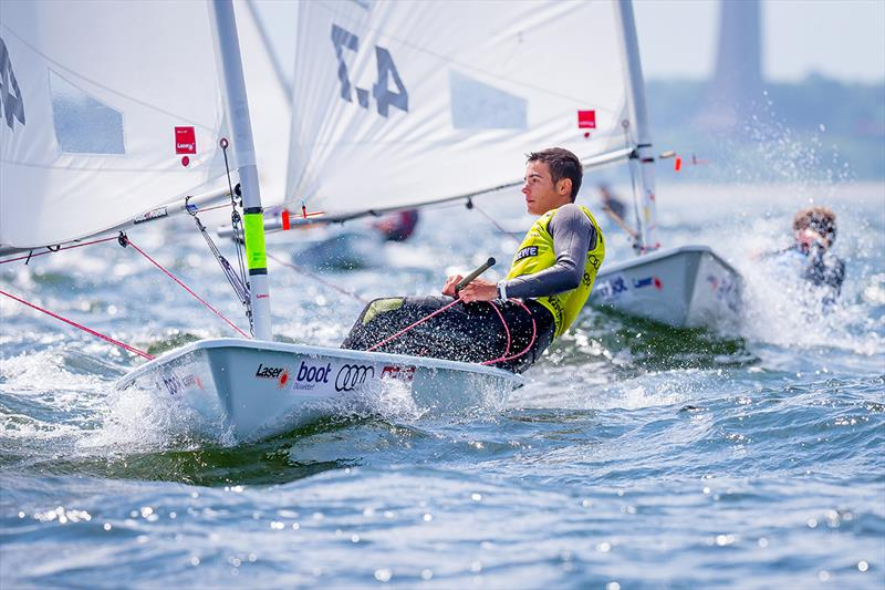 There has been no doubts about the victory of Italien Cesare Barabino in Laser 4.7 class. He wins with an impressive delta of 41 points. - photo © Sascha Klahn / Kiel Week