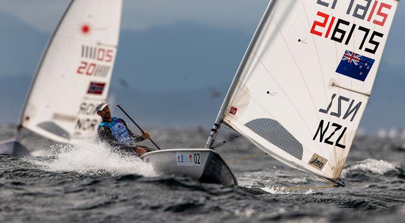 Sam Meech (NZL) - Laser - Enoshima , Round 1 of the 2020 World Cup Series - August 30, 2019 - photo © Jesus Renedo / Sailing Energy