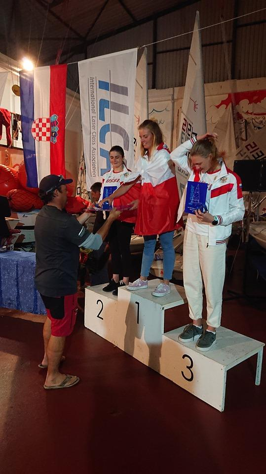 2019 ILCA Laser Under-21 World Championships Women's Podium photo copyright Event Media taken at  and featuring the Laser Radial class