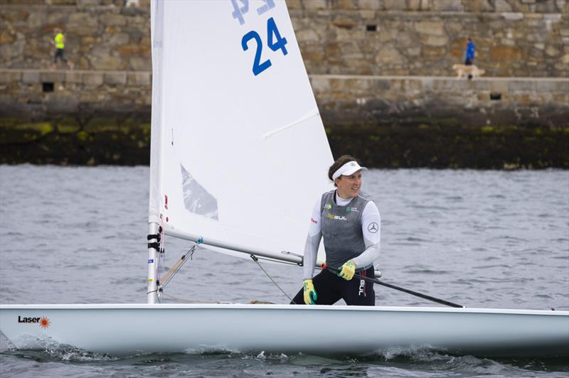 Olympic Silver medallist Annalise Murphy and fellow Toyko contender Aoife Hopkins in action on Dun Laoghaire Harbour - photo © David Branigan / Oceansport