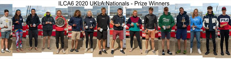 UKLA ILCA 6 Masters Nationals at the WPNSA - Prize Winners - photo © Sam Pearce
