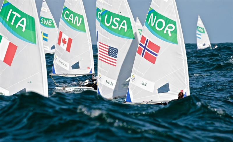 More observations from the WP: `Although the One Person Dinghy events have country flags on sails, they are not visible enough.to easily identify the countries.` - photo © Richard Gladwell