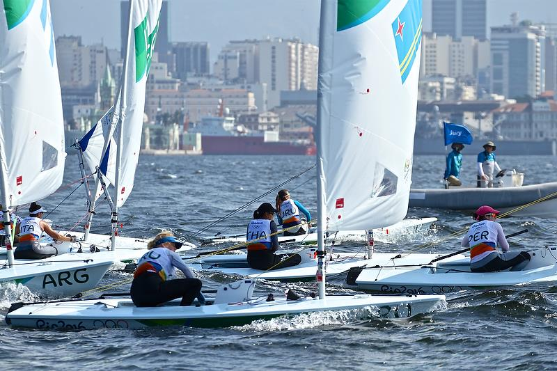Day 2 - Laser Radial  - Rio Olympic Regatta - photo © Richard Gladwell