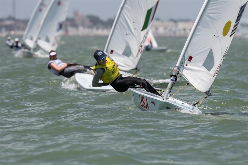 USA, Womens Laser Radial, Youth World Sailing Championships, July 2018, Corpus Christi, Texas - photo © Jen Edney / World Sailing