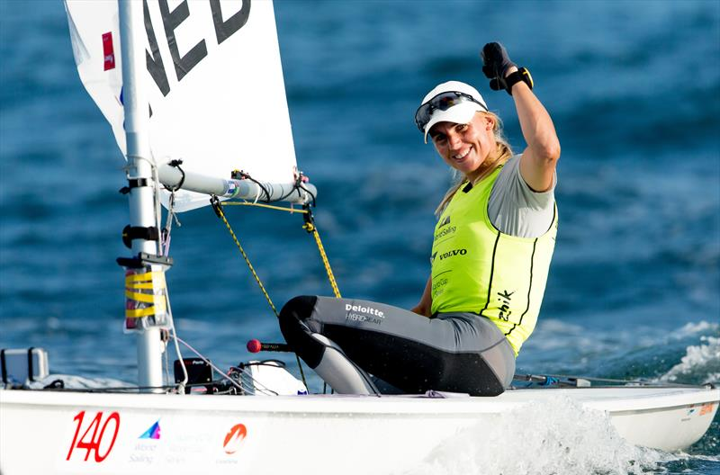 Marit Bouwmeester (NED) wins Laser Radial Gold at the 2018 Sailing World Cup, Enoshima, Japan - photo © Sailing Energy