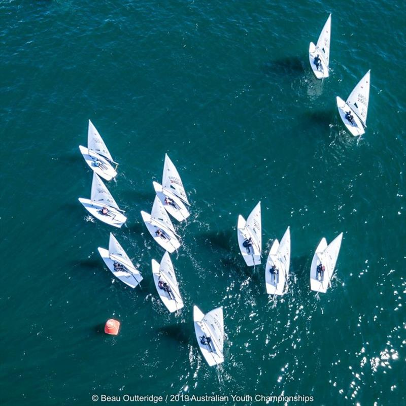 Day 1 - 2019 Australian Sailing Youth Championships photo copyright Beau Outteridge taken at Royal Yacht Club of Tasmania and featuring the Laser Radial class