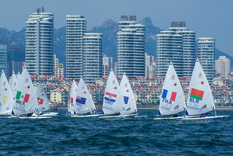 Laser Radial start - 2008 Olympic Regatta - Qingdao - photo © Richard Gladwell