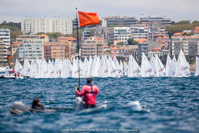 Laser Radial fleet - Day 4 - European Laser Radial Championships - May 2019 - photo © Neuza Aires Pereira