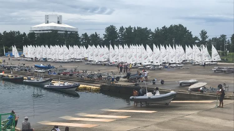 Radials lined up waiting for racing at the 2019 Womens Radial Worldss - photo © Laser Performance