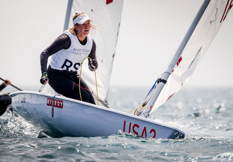 U.S. Women's Laser Radial, Erika Reineke - Ready Steady Tokyo, day 5 - photo © Jesus Renedo / Sailing Energy / World Sailing