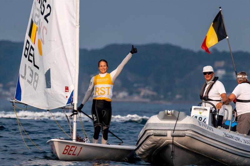 Emma Plasschaert (BEL) - Ready Steady Tokyo, day 6 - photo © Pedro Martinez / Sailing Energy / World Sailing