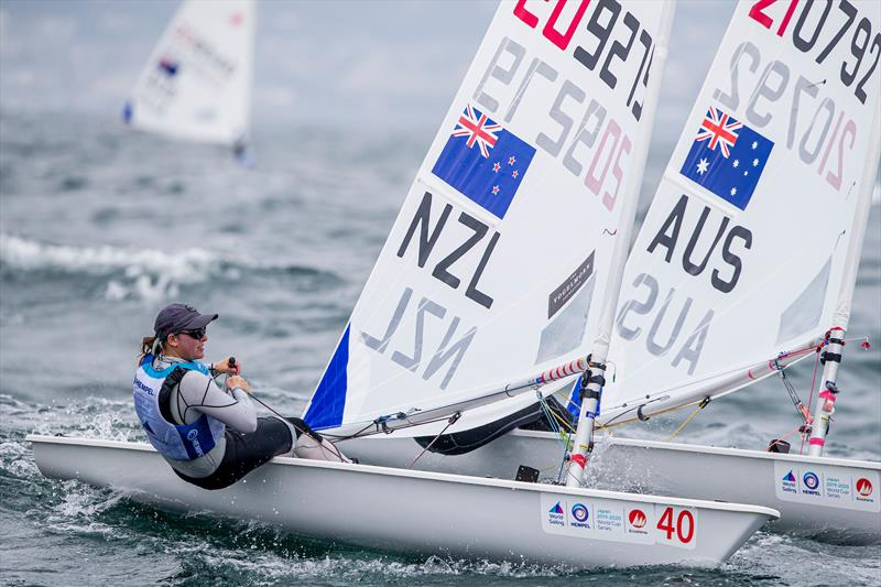 Olivia Christie (NZL) - Laser Radial - Enoshima , Round 1 of the 2020 World Cup Series - August 29, 2019 - photo © Jesus Renedo / Sailing Energy / World Sailing