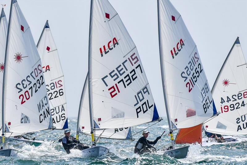 ILCA Lasers competing in the 2020 Laser Radial World Championships - Melbourne, Victoria, Australia - photo © Bogee Toth
