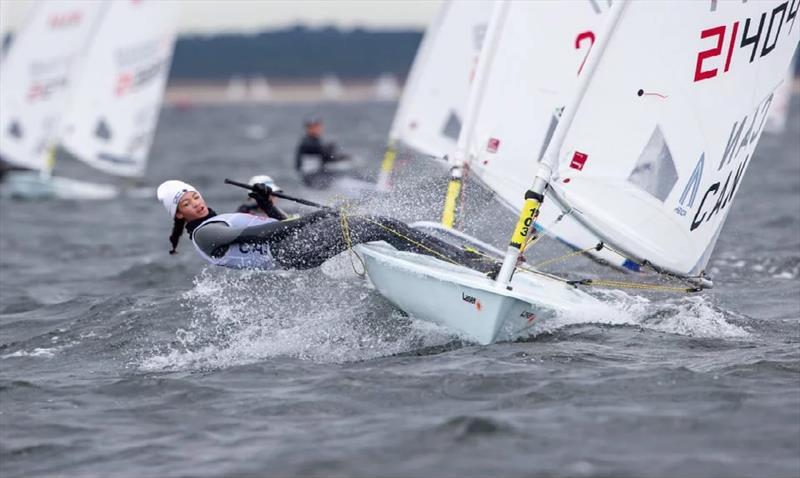 Sarah Douglas - 2020 Laser Senior European Championship - photo © Thom Touw Photography
