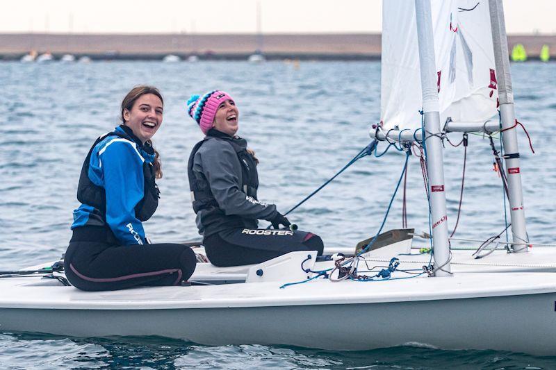 Happy sailors in the UKLA Noble Marine ILCA Autumn Qualifier - photo © Georgie Altham