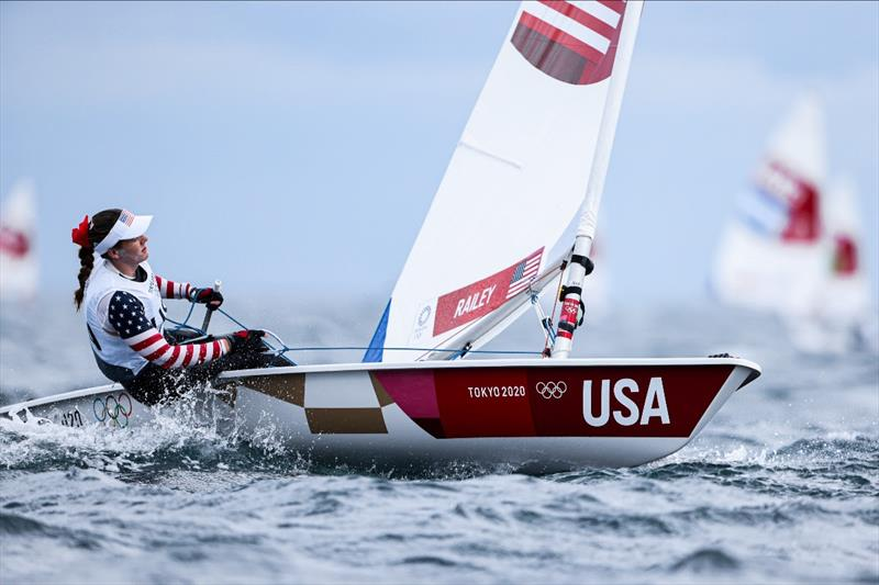 Paige Railey (USA) on Tokyo 2020 Olympic Sailing Competition Day 3 - photo © Sailing Energy / World Sailing