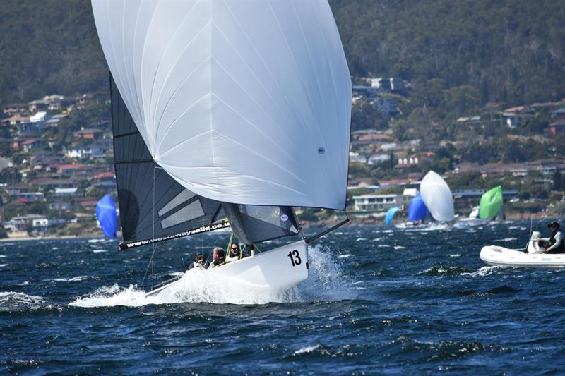 Great sailing on the Derwent on the final day of the SB20 Worlds - photo © Jane Austin