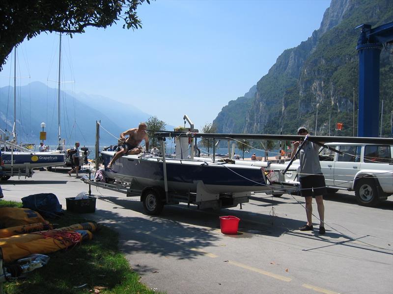 SB20 getting set for an event on Lake Garda - photo © Gael Pawson