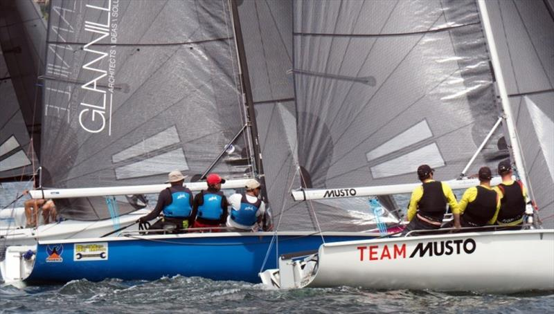 Close racing in the SB20 class at the Crown Series Bellerive Regatta. - photo © Ed Glover