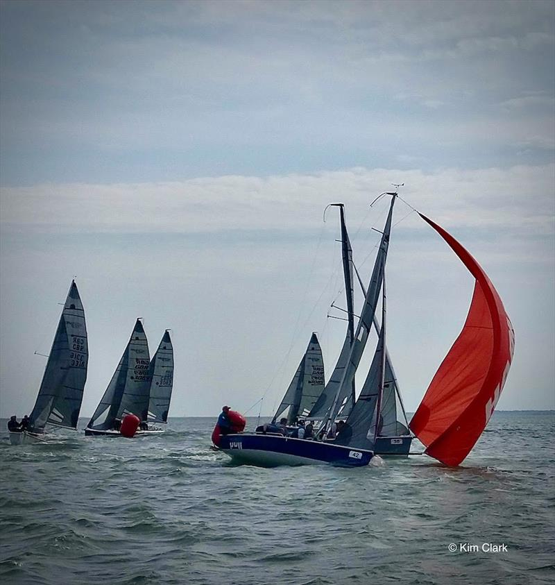 Close racing at the SB20 UK National Championships - photo © Kim Clark