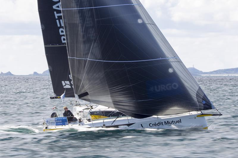 50th La Solitaire URGO Le Figaro Stage 2 fleet pass Bishop Rock - photo © Alexis Courcoux