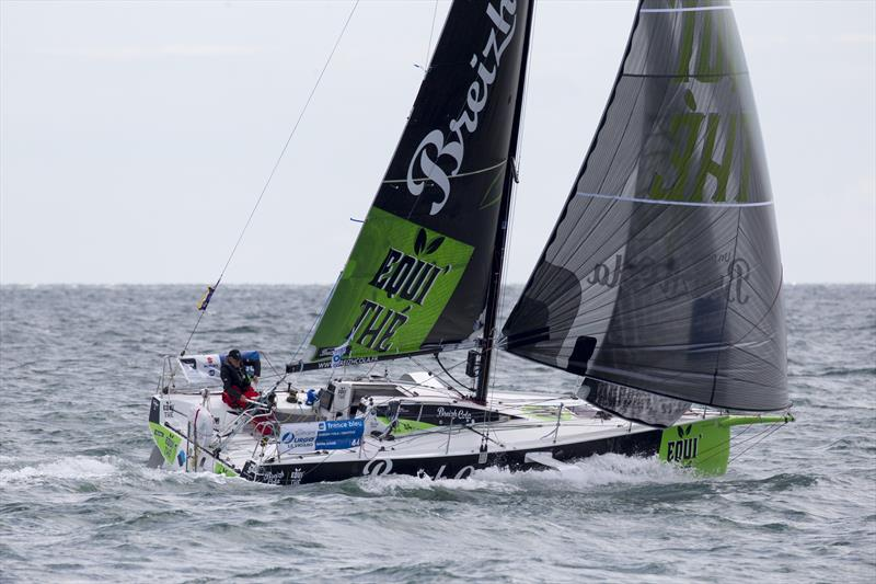 50th La Solitaire URGO Le Figaro Stage 2 fleet at the Needles Fairway Buoy - photo © Alexis Courcoux