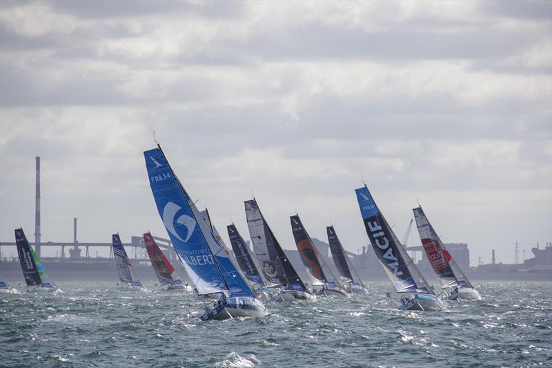 La Solitaire du Figaro Stage 3 start - photo © Alexis Courcoux