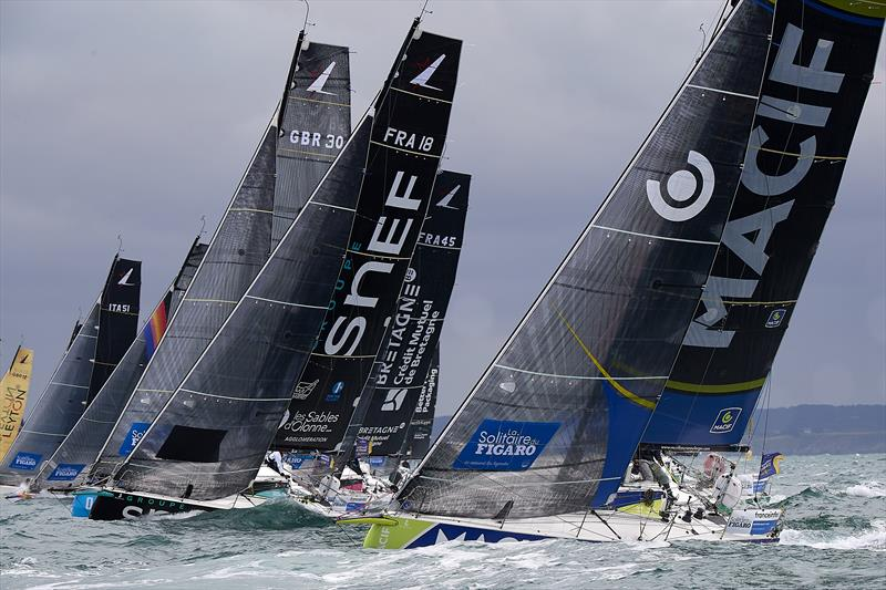 The 2nd stage of Solitaire du Figaro 2020 departs - photo © Yvan Zedda
