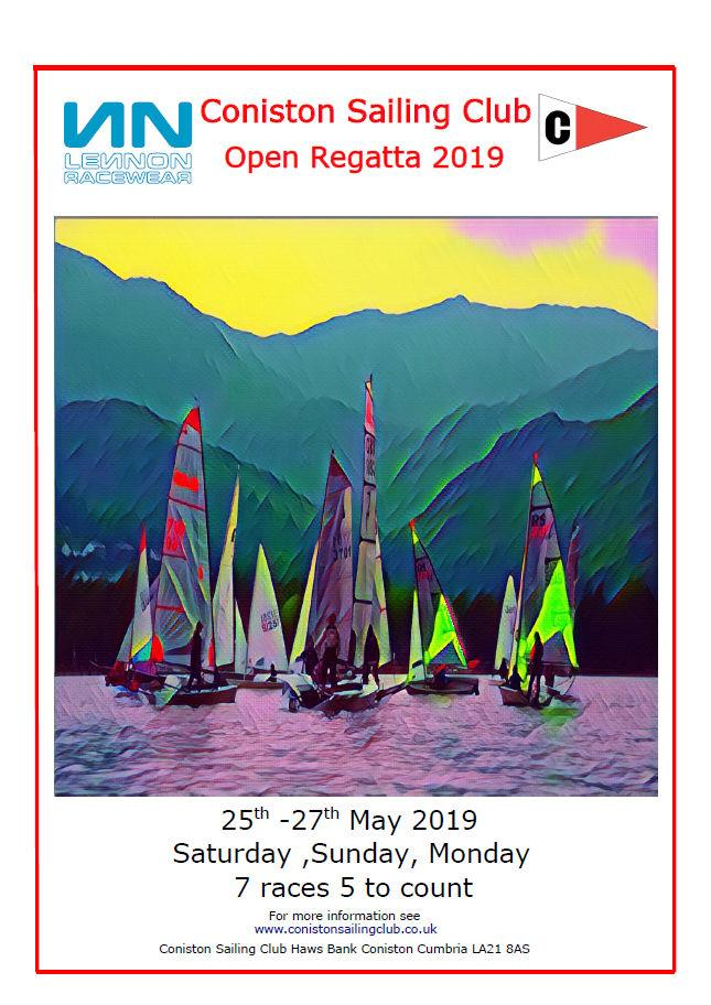 Lennon Racewear Coniston Sailing Club Dinghy Regatta taking place on 25th-27th May