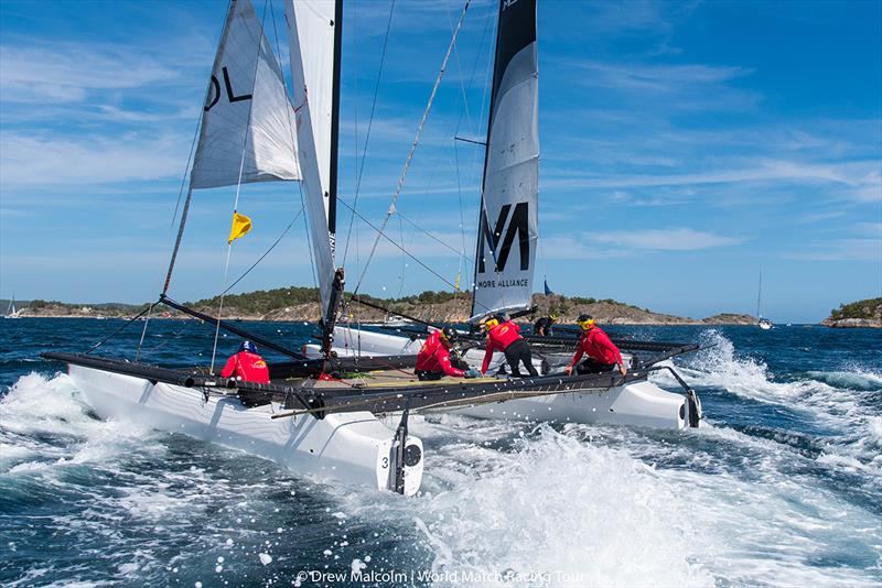 Tight racing as Robertson eventually beats Mirsky - 2018 WMRT Match Cup Norway - Final Day - photo © Drew Malcolm