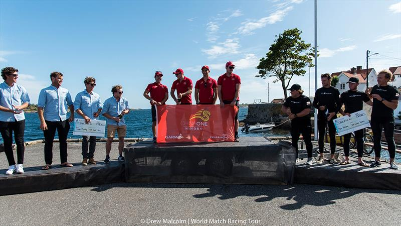 Champagne Time in Risør - 2018 WMRT Match Cup Norway - Final Day - photo © Drew Malcolm